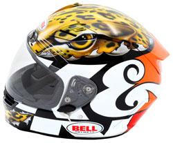 Sullivan's New K&N Custom Designed Helmet from the side
