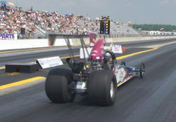 Kathy Fisher launches her way to a round victory at Grand Bend Motorplex.