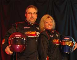 Drag Racers Kevin and Kathy Fisher