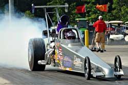 Kevin and Kathy Fisher'a Fuels/K&N/Ohio Crankshaft/Amalie Boulton dragster