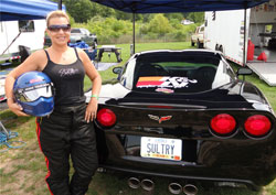 Kathy Fisher can also be found again in 2012 competing in the team's K&N 2010 Corvette during select events.