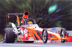 Kathy Fisher's brand new 2012 K&N American Race Cars Dragster makes its way to its first final round in just five short outings.