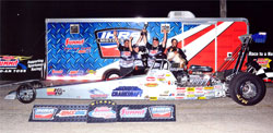 K&N/Ohio Crankshaft/Armor Coat Top Dragster takes Kevin Fisher to Victory at IHRA Mopar Nitro Jam Nationals. Photo by: BME Photography. Photo by: BME Photography.