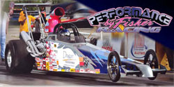 Kathy Fisher's IHRA Division winning dragster. Photos by: BME Photography.