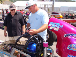 K&N's second generation Carbon Fiber Dragster Scoop not only looks awesome, they produced over two more mph in Fisher's very first event.