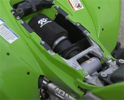 K&N performance air intake system 63-1124 installed on a 2009 Kawakaki KFX450