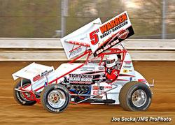 Adam Kekich of Kekich Racing No. 5 Sprint Car