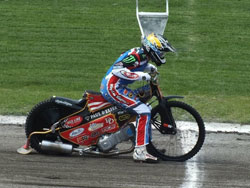 The K&N sponsored rider had the opportunity to display is skill with the Elite club the Wolverhampon Wolves in Poland.