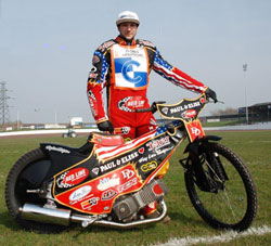 California's Kenny Ingalls is spending part of 2012 in England, racing for the Workington Comets.