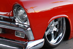 What visitors to the SEMA show remember about Ladners Plymouth is the complete absence of any electrical switches.