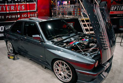 Kevin Byrd's 1990 BMW M3 was at SEMA in Optima Batteries booth