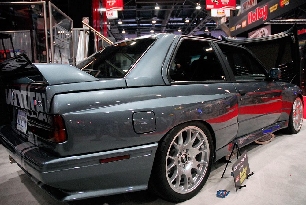 speed channel 39 s two guys garage host kevin byrd brings bmw m3 with ls3 engine swap to sema. Black Bedroom Furniture Sets. Home Design Ideas