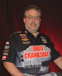 Kevin Fisher, driver of the 1,850 horsepower Ohio Crankshaft/K&N Top Dragster