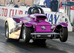 McClelland's win last weekend in the NMCA/NMRA West Coast Shootout was his second win in a row at Fontana Dragway.