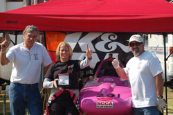 The K&N sponsored driver remarked that she could not have won without the support of her family and engine builder.