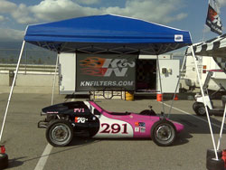 K&N sponsored Madrid drove her hot pink FV1 to her fourth consecutive championship this year.