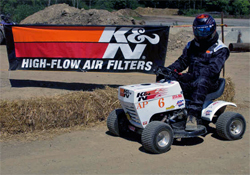 Ken Jones is a 15 year USLMRA U.S. Lawn Mower Racing Association Veteran