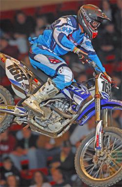 Bobby J's Yamaha Keith Johnson victory in 2009 AMA Arenacross Series season kick-off