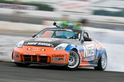 Formula Drift Champion Chris Forsberg and the NOS Energy Drink Nissan 350Z