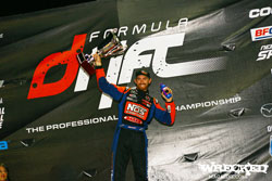 Chris Forsberg takes the podium after his Formula Drift Championship win