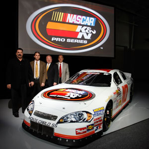 NASCAR announces K&N as title sponsor of their top developmental series for the next seven years.