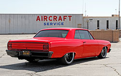This tubbed 1965 Chevy Chevelle Malibu SS rides on a custom Ridetech suspension