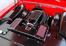 The Supercharged LS1 features a custom intake system with K&N Performance Air Filters