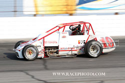 Kody Swanson at Lucas Oil Raceway - Pavement Silver Crown