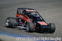 Kody Swanson got his first USAC Western Sprint victory of the year driving for Harvest Supply Racing.