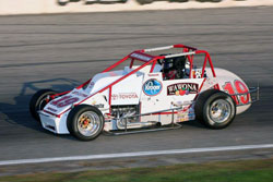 Kody's power-steering pump broke around lap 50, but he held on for 100 laps, becoming the first driver to lead all 150-laps of a Silver Crown event.