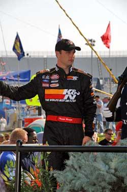 Travis Kvapil finished 3rd at Dover International Speedway