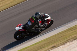 Sean Dwyer clinched the WERA Superbike National Championship with a last corner pass at Barber Motorsports Park.