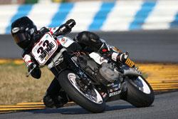 Harley Davidson XR1200 Racer Kyle Wyman in Daytona Beach, Florida