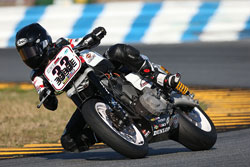 Kyle Wyman had the opportunity to race in both the Harley -Davidson and Daytona Superbike classes during the 2013 season