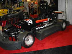 K&N decorated Indy Mini Car at LA Auto Show Speed Zone Booth