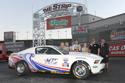 The 2010 Cobra Jet Ford Mustang was a winner for Justin Lamb in his very first race of the season.