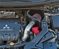 69-6544TS K&N air intake system installed in a 2008 Mitsubishi Lancer with a 2.0 liter engine