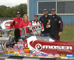 Moser Engineering backed Cummings Motorsports Team racked up wins in IHRA and NHRA Sportsman Class events
