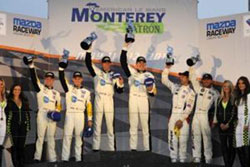 One-Two Podium Finish for Corvette Racing at Mazda Raceway Laguna Seca