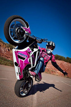 You have to be creative, intelligent, and a dedicated person to do wheelies fulltime according to Petersen.
