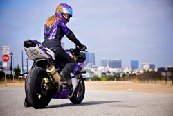 Street riding in New York, Italy and Los Angeles can be more challenging than stunt riding.
