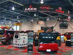 Project truck at SEMA with K&N products
