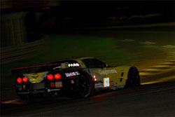 After nine hours and ten minutes, running only on fumes, Corvette Racing crossed the finish line nearly six seconds ahead of the runner-up Ferrari.