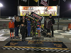 Jake family and friends celebrate Jake's win at Lemoore.