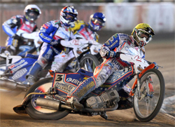 Jason Crump ready for the Challenge in the second round of the 2009 World Speedway Grand Prix Championship Chase, photo by Mike Patrick Photography