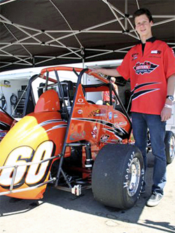 Michael Lewis won his first USAC Ford Focus Feature win at Madera Speedway in Madera, California