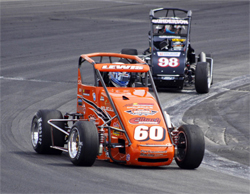 USAC California Pavement Ford Focus Series event won by No. 60 Western Speed Ford Focus midget at Orange Show Speedway in San Bernardino
