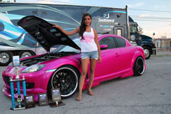 Lina was awarded trophies including Best Paint, Best Mazda and 2nd Place import at this car show.