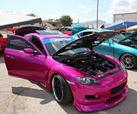 Even to a trained car show judge, it could take hours to find a single flaw on this Candy Pink paint job and it has earned Lina Rodriguez many trophies.