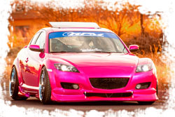 Most people would be stuck on the paint job, but Lina Rodriguez took extra time with her Mazda RX-8 to really get it right because lets face it... It's a girls show car.